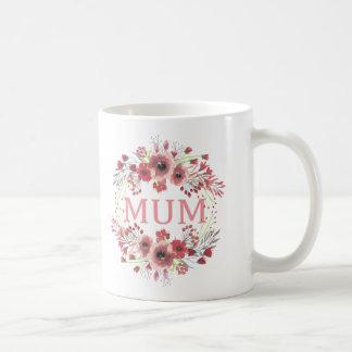 Caneca do círculo da flor da mãe
