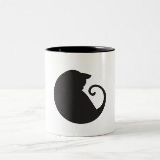 Caneca do círculo do gato preto