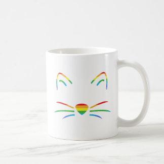 Caneca do clássico das suiças do gato do arco-íris