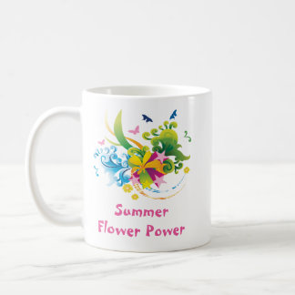 Caneca do clássico de flower power do verão