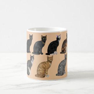 Caneca do clássico de sete gatos