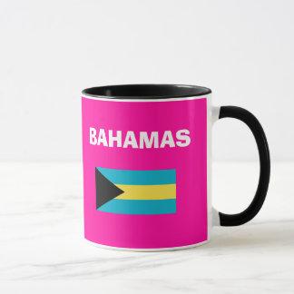 Caneca do código de país de Bahamas - BS