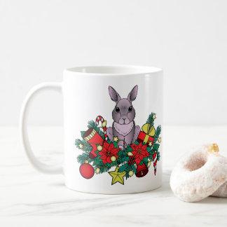 Caneca do coelho do Natal