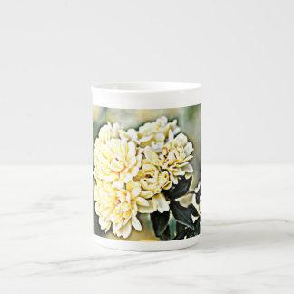 """Caneca do """"conjuntos de China de osso de flor"""