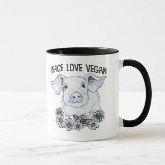 Caneca do copo de café do porco do Vegan do amor