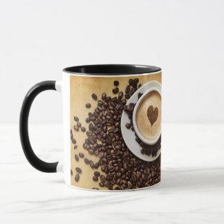 Caneca do copo do punho do amor do café