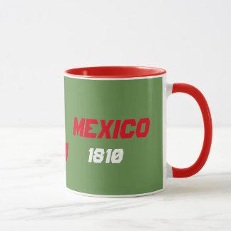 Caneca do costume da bandeira do mapa de México