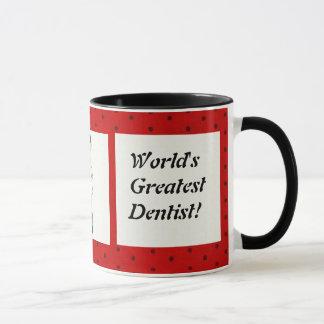 Caneca do dentista do mundo a grande