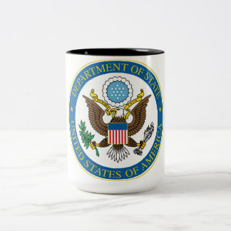 Caneca do departamento de estado 15oz