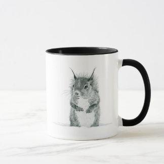 Caneca do desenho do esquilo