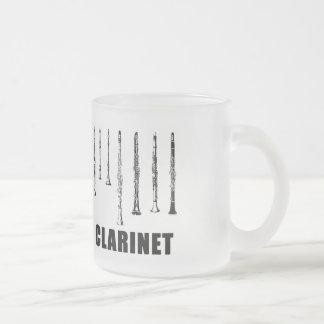 Caneca do design do clarinete do vintage
