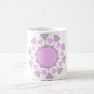Caneca do design geométrico - cinza e rosa