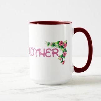 Caneca do dia das mães da flor a melhor