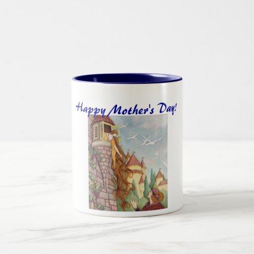 Caneca do dia das mães de Rapunzel