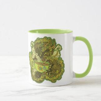Caneca do dragão do chá