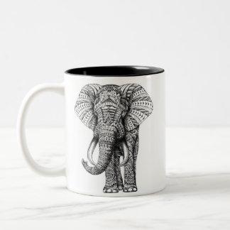 Caneca do elefante da mandala