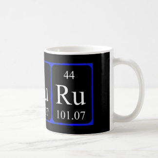 Caneca do elemento 44 - ruténio