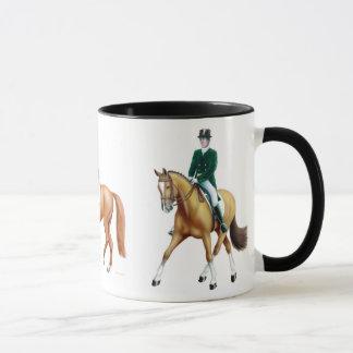 Caneca do Equestrian dos cavalos do adestramento