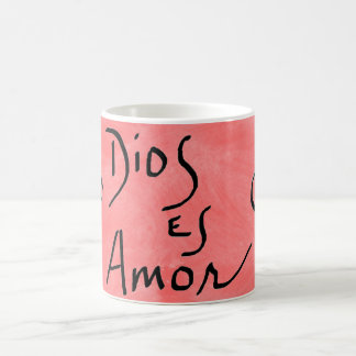 Caneca do espanhol de Dios Es Amor