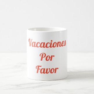 Caneca do favor de Vacaciones Por