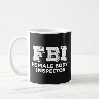 Caneca do FBI - inspector do corpo fêmea - amante