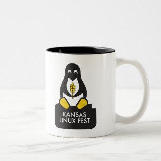 Caneca do Fest de Kansas Linux