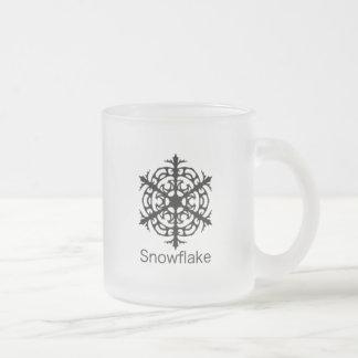 Caneca do fosco do floco de neve