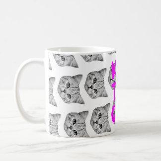 Caneca do gato do chá do jogo