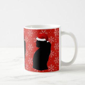 Caneca do gato do Natal