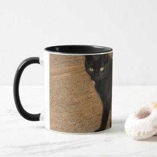 Caneca do gato preto