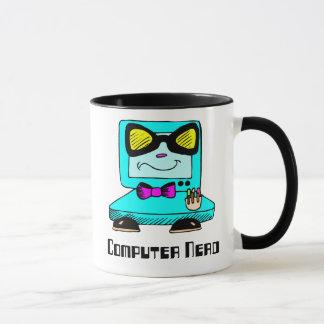 Caneca do geek do nerd do computador