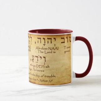 CANECA DO HEBRAICO DO 1:7 DE NAHUM