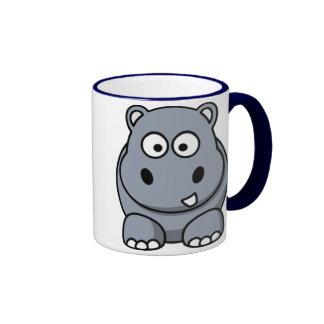 Caneca do hipopótamo dos desenhos animados