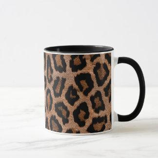 Caneca do impressão do leopardo