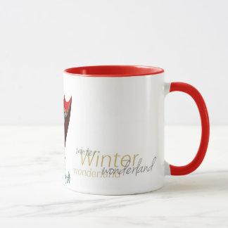 Caneca do inverno da letra de M