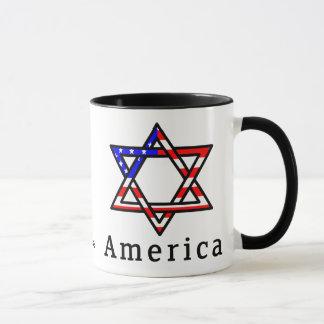 CANECA do judaísmo da estrela de David de América!