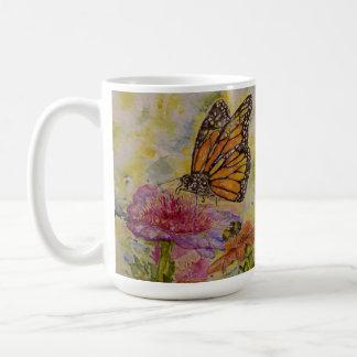 Caneca do jumbo da arte da aguarela da borboleta