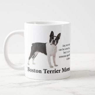 Caneca do jumbo da mamã de Boston Terrier