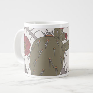 Caneca do jumbo do cacto do deserto