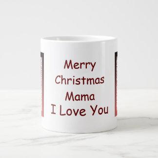 Caneca do jumbo dos bastões de doces do Mama Natal