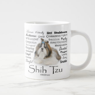 Caneca do jumbo dos traços de Shih Tzu