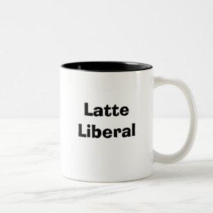 Caneca do liberal de Latte
