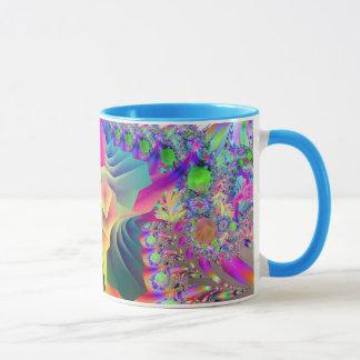 Caneca do lilac do design do Fractal
