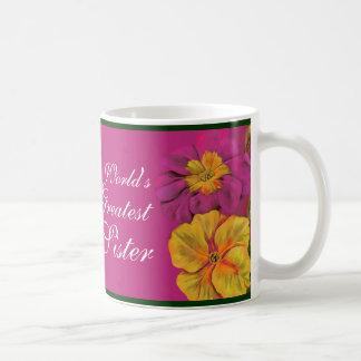 Caneca do malva da irmã do mundo floral do Primula