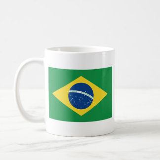 Caneca do mapa do ~ da bandeira de Brasil