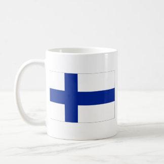 Caneca do mapa do ~ da bandeira de Finlandia