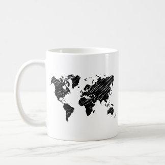 Caneca do mapa do mundo