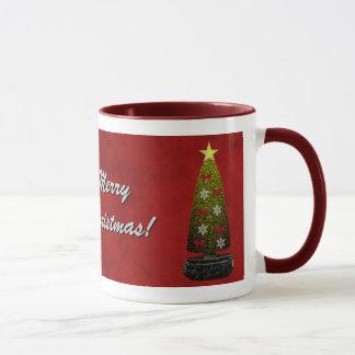 Caneca do modelo do Feliz Natal - personalizada