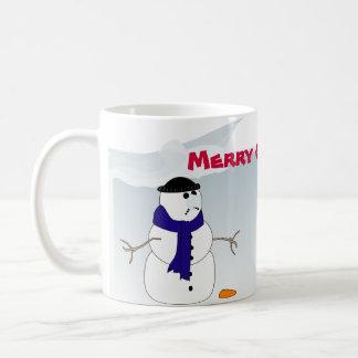 Caneca do Natal com bonecos de neve