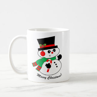 Caneca do Natal do Boneco de neve-Casado